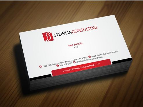 Steinlin Consulting Business Cards and Stationery  Draft # 181 by Deck86