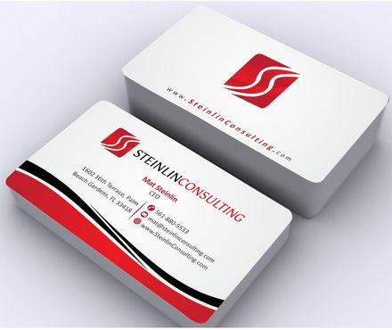 Steinlin Consulting Business Cards and Stationery  Draft # 187 by Deck86