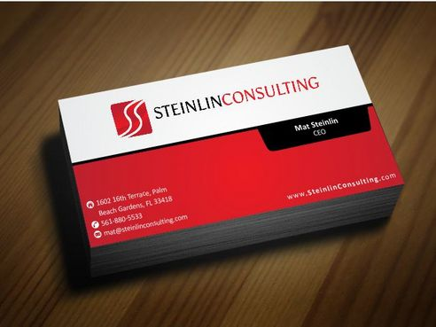 Steinlin Consulting Business Cards and Stationery  Draft # 195 by Deck86