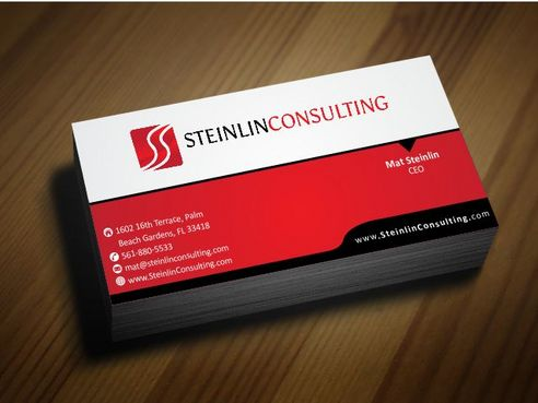 Steinlin Consulting Business Cards and Stationery  Draft # 196 by Deck86