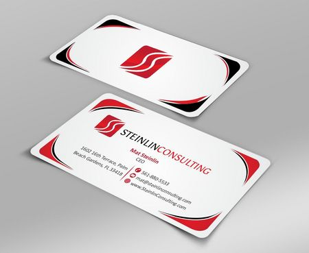 Steinlin Consulting Business Cards and Stationery  Draft # 198 by Deck86
