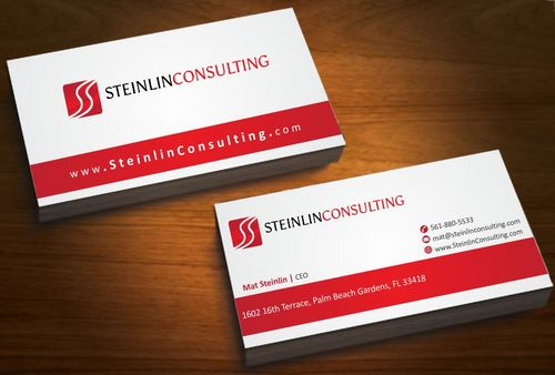 Steinlin Consulting Business Cards and Stationery  Draft # 199 by Deck86