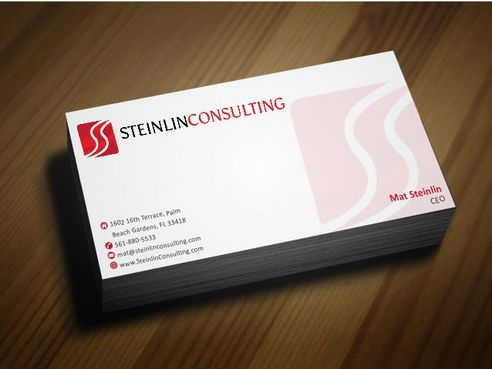 Steinlin Consulting Business Cards and Stationery  Draft # 205 by Deck86