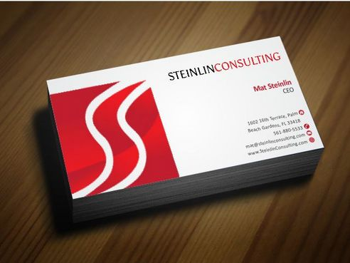 Steinlin Consulting Business Cards and Stationery  Draft # 204 by Deck86