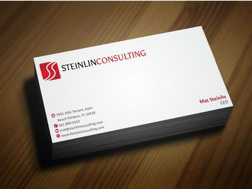 Steinlin Consulting Business Cards and Stationery  Draft # 206 by Deck86