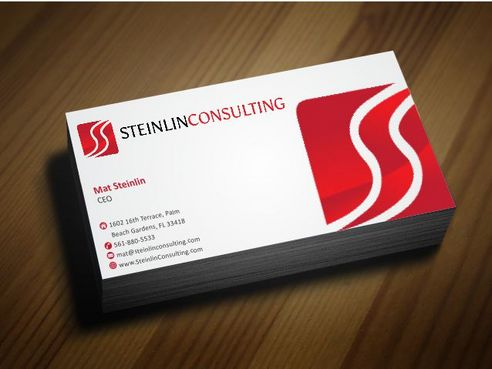 Steinlin Consulting Business Cards and Stationery  Draft # 207 by Deck86