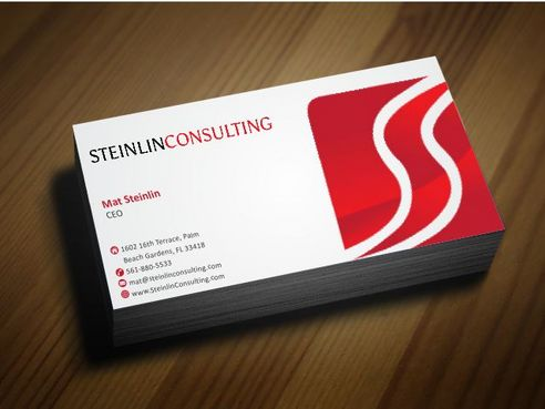 Steinlin Consulting Business Cards and Stationery  Draft # 208 by Deck86