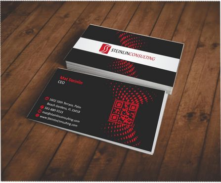 Steinlin Consulting Business Cards and Stationery  Draft # 215 by designdoctor
