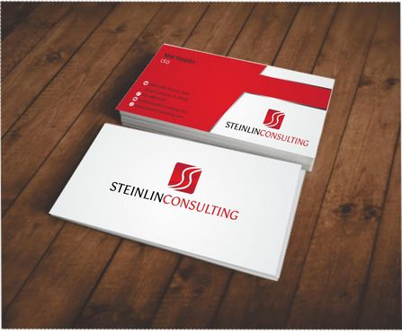 Steinlin Consulting Business Cards and Stationery  Draft # 216 by designdoctor