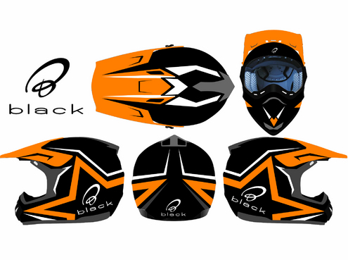 Original designs for 2 biker helmets