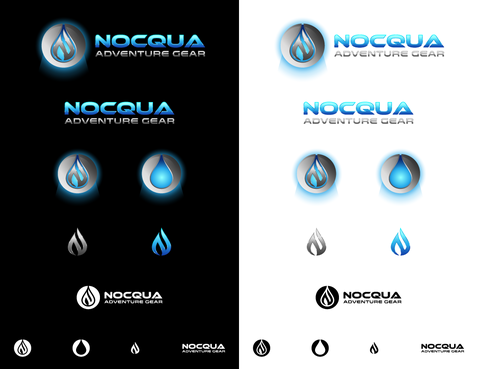 Nocqua (main logo) Adventure Gear (smaller text)