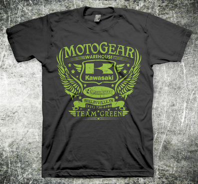 Kawasaki powersport dealer t-shirt