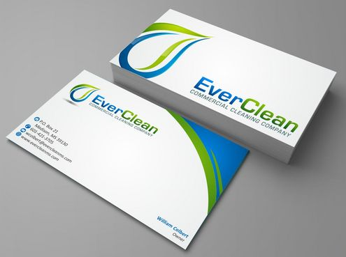 EverClean Business Cards and Stationery  Draft # 130 by Deck86