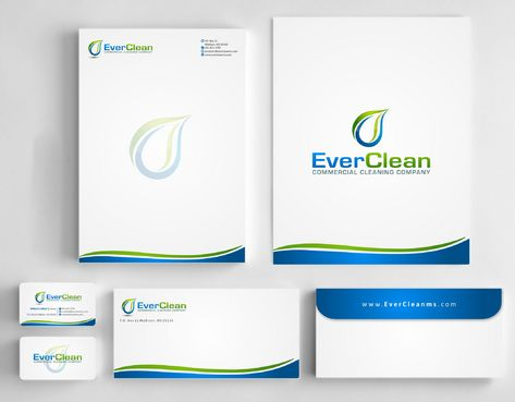 EverClean Business Cards and Stationery  Draft # 174 by Deck86