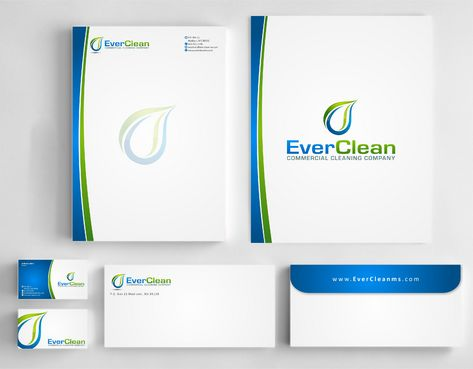EverClean Business Cards and Stationery  Draft # 175 by Deck86