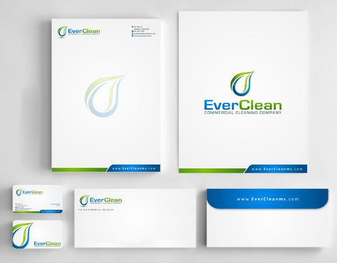 EverClean Business Cards and Stationery  Draft # 179 by Deck86