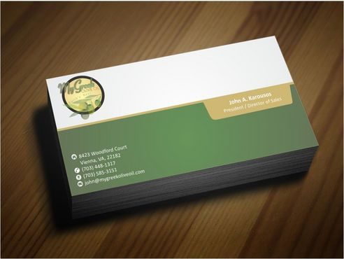 Business cards and stationery of an Olive Oil Company Business Cards and Stationery  Draft # 131 by Deck86