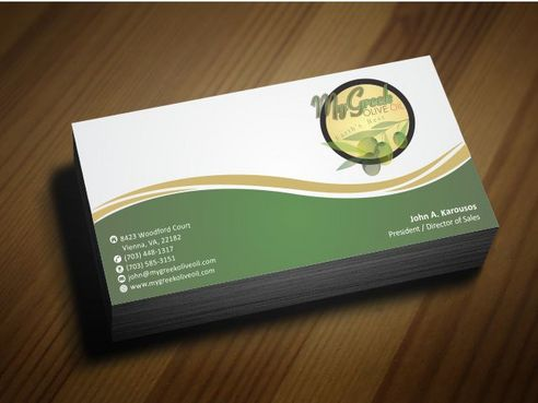 Business cards and stationery of an Olive Oil Company Business Cards and Stationery  Draft # 130 by Deck86