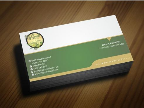 Business cards and stationery of an Olive Oil Company Business Cards and Stationery  Draft # 134 by Deck86