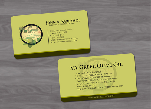 Business cards and stationery of an Olive Oil Company Business Cards and Stationery  Draft # 137 by pixdesign