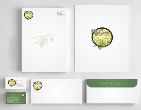 Business cards and stationery of an Olive Oil Company Business Cards and Stationery  Draft # 138 by Deck86