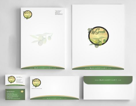 Business cards and stationery of an Olive Oil Company Business Cards and Stationery  Draft # 139 by Deck86