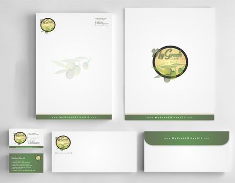 Business cards and stationery of an Olive Oil Company Business Cards and Stationery  Draft # 140 by Deck86