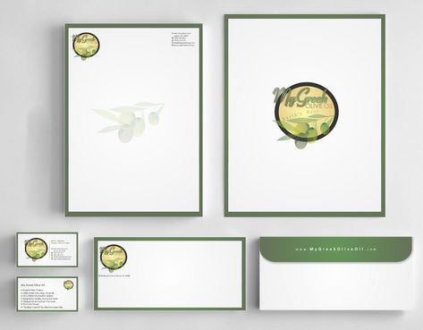 Business cards and stationery of an Olive Oil Company Business Cards and Stationery  Draft # 141 by Deck86