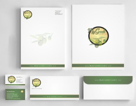 Business cards and stationery of an Olive Oil Company Business Cards and Stationery  Draft # 143 by Deck86