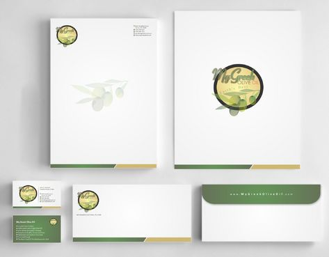 Business cards and stationery of an Olive Oil Company Business Cards and Stationery  Draft # 144 by Deck86