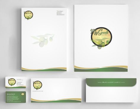 Business cards and stationery of an Olive Oil Company Business Cards and Stationery  Draft # 145 by Deck86