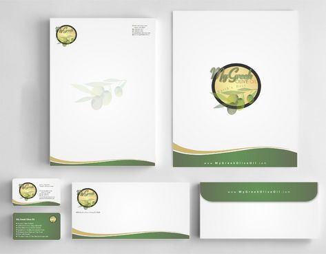 Business cards and stationery of an Olive Oil Company Business Cards and Stationery  Draft # 146 by Deck86