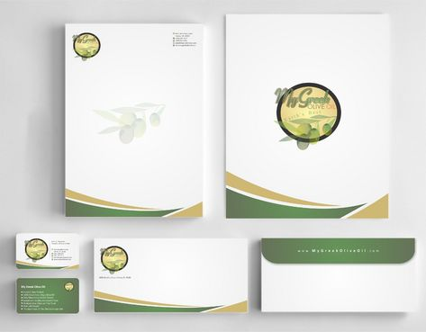Business cards and stationery of an Olive Oil Company Business Cards and Stationery  Draft # 147 by Deck86