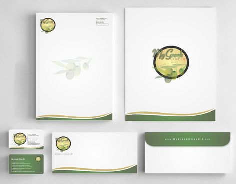 Business cards and stationery of an Olive Oil Company Business Cards and Stationery  Draft # 148 by Deck86