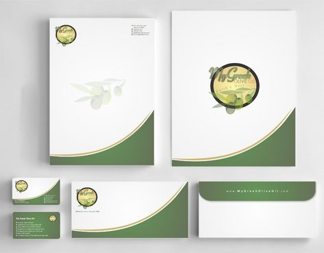 Business cards and stationery of an Olive Oil Company Business Cards and Stationery  Draft # 150 by Deck86