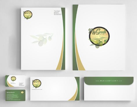 Business cards and stationery of an Olive Oil Company Business Cards and Stationery  Draft # 151 by Deck86