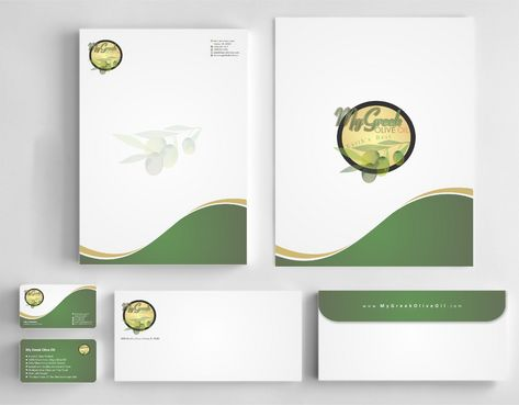 Business cards and stationery of an Olive Oil Company Business Cards and Stationery  Draft # 153 by Deck86