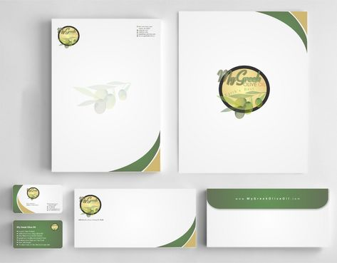Business cards and stationery of an Olive Oil Company Business Cards and Stationery  Draft # 154 by Deck86
