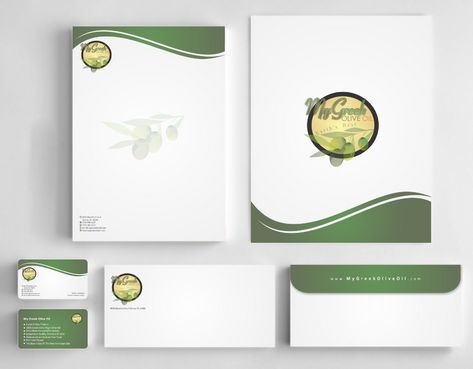 Business cards and stationery of an Olive Oil Company Business Cards and Stationery  Draft # 155 by Deck86