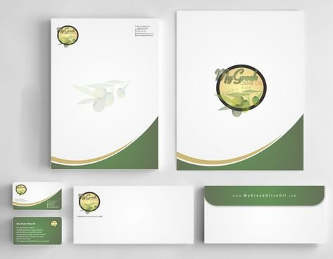 Business cards and stationery of an Olive Oil Company Business Cards and Stationery  Draft # 157 by Deck86