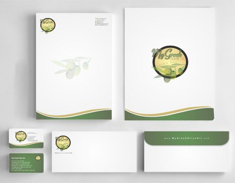 Business cards and stationery of an Olive Oil Company Business Cards and Stationery  Draft # 156 by Deck86