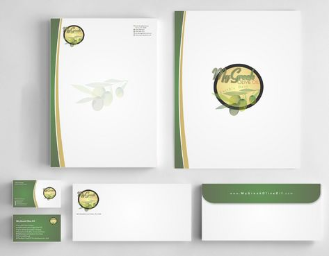 Business cards and stationery of an Olive Oil Company Business Cards and Stationery  Draft # 158 by Deck86