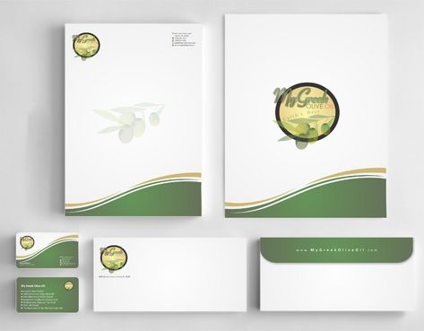 Business cards and stationery of an Olive Oil Company Business Cards and Stationery  Draft # 159 by Deck86