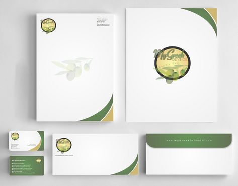 Business cards and stationery of an Olive Oil Company Business Cards and Stationery  Draft # 160 by Deck86