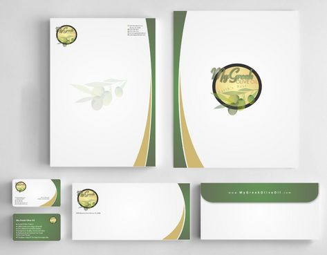 Business cards and stationery of an Olive Oil Company Business Cards and Stationery  Draft # 161 by Deck86