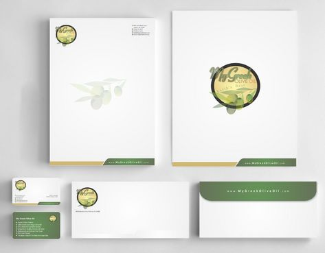 Business cards and stationery of an Olive Oil Company Business Cards and Stationery  Draft # 162 by Deck86