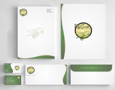 Business cards and stationery of an Olive Oil Company Business Cards and Stationery  Draft # 163 by Deck86