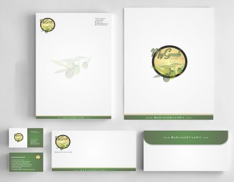 Business cards and stationery of an Olive Oil Company Business Cards and Stationery  Draft # 164 by Deck86