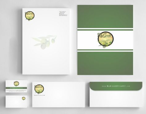 Business cards and stationery of an Olive Oil Company Business Cards and Stationery  Draft # 165 by Deck86
