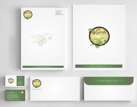 Business cards and stationery of an Olive Oil Company Business Cards and Stationery  Draft # 166 by Deck86